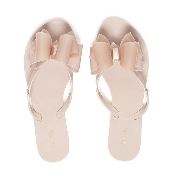 Melissa Women's Harmonic Twin Bow Flip Flops - Blush