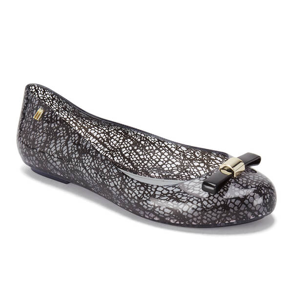 Melissa X Jason Wu Women's Space Love Lace Plastic Flat Black-Black-7 Size 7