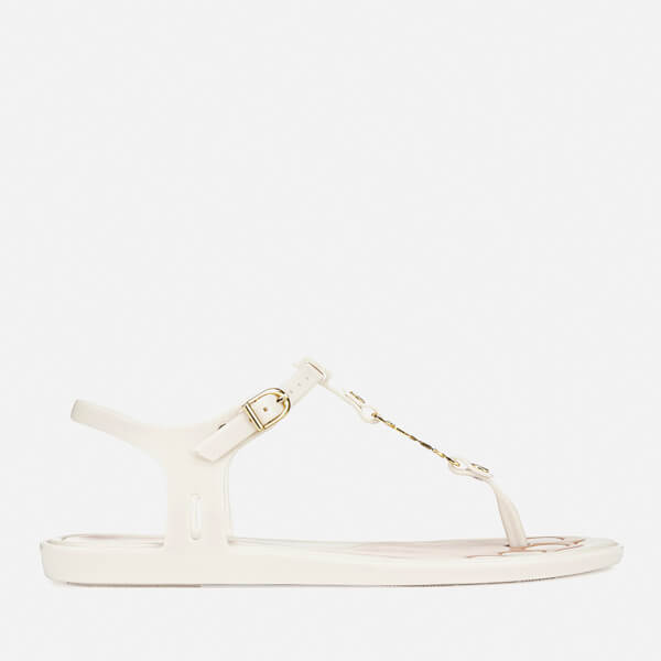 Vivienne Westwood For Melissa Women's Solar 21 Toe Post Sandals - White Contrast
