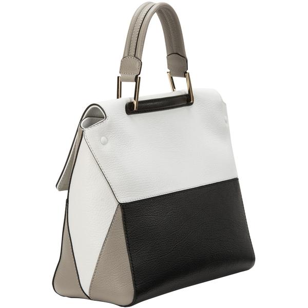 Женская черно-белая сумка metropolis с принтом FURLA