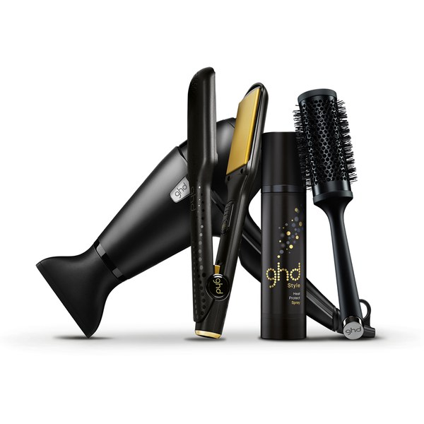 Kit de Plancha ghd V Gold Max y Secador ghd Air Ultimate Styling