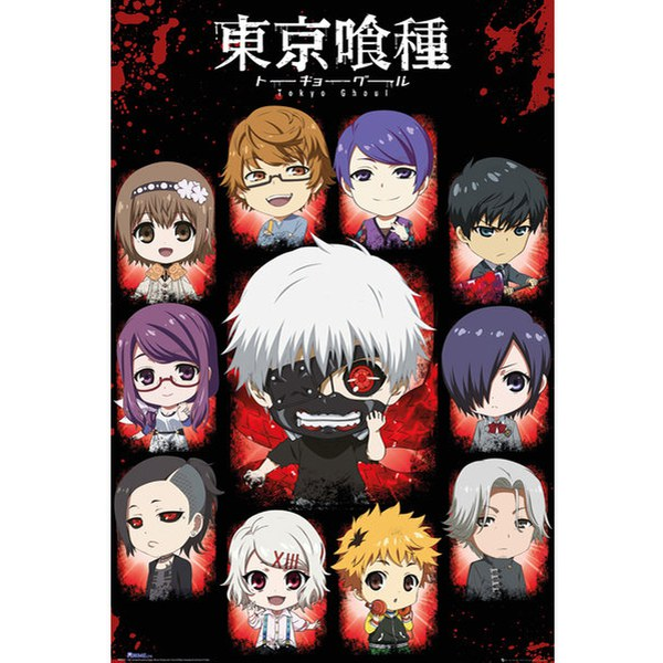 Tokyo Ghoul Chibi Characters - 24 x 36 Inches Maxi Poster Merchandise ...