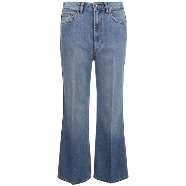 Marc by Marc Jacobs Women's Wide Leg Denim Trousers - Crop Blue
