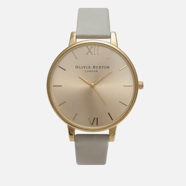 Olivia Burton Women's Big Dial Watch - Grey/Gold
