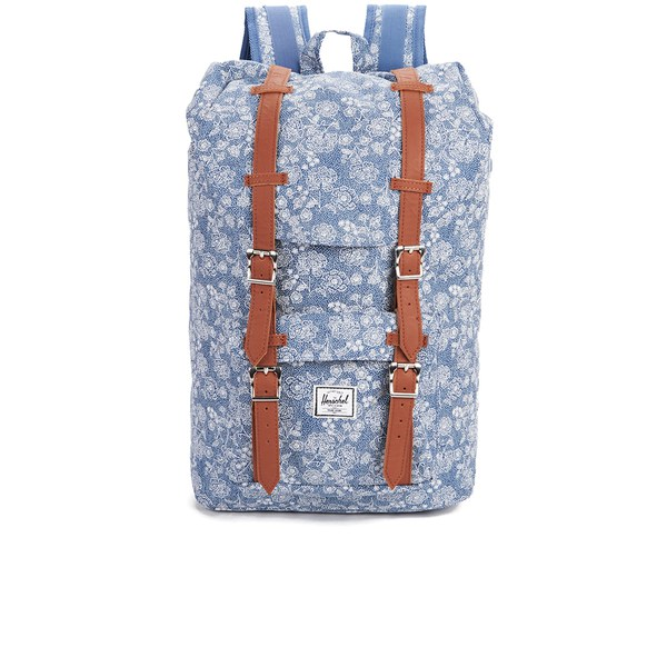 Herschel Supply Co. Little America Mid Volume Backpack - Floral Chambray -  Free UK Delivery over £50 475c81b71c84f