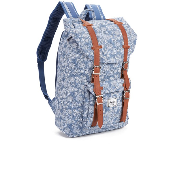 Herschel Supply Co. Little America Mid Volume Backpack - Floral Chambray   Image 2 2d86485f5e1b8