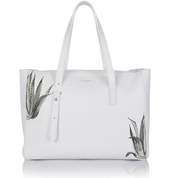 meli melo Womens Kiki Aloe Print Tote Bag - White