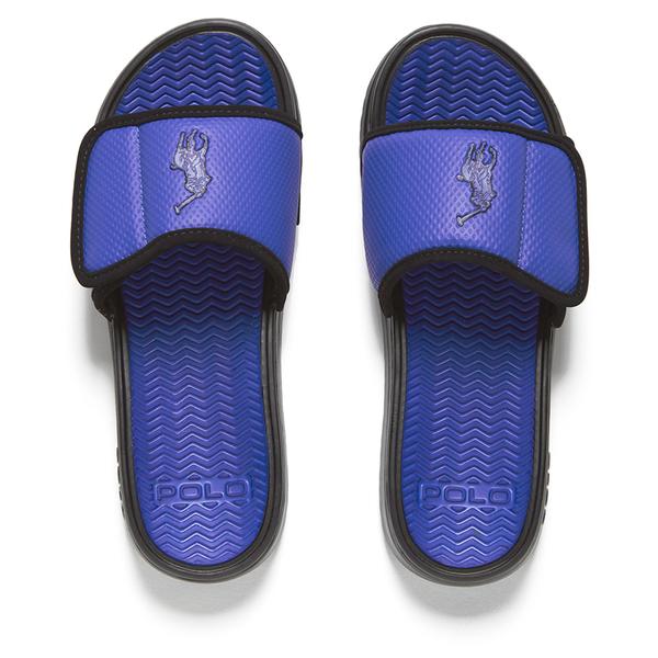 6d55f524cf1 Polo Ralph Lauren Men s Romsey Slide Sandals - Royal Black  Image 1