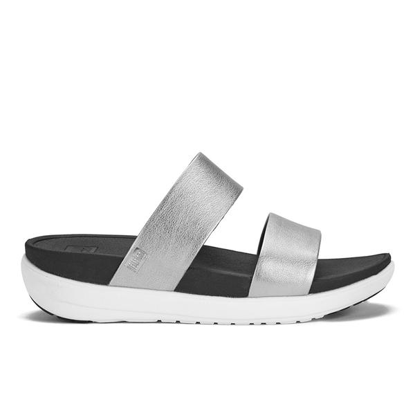 5c0b55473bcf FitFlop Women s Loosh Slide Sandals - Silver  Image 1