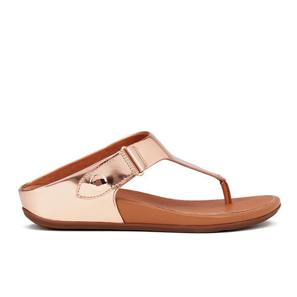e83b7d22bb89 FitFlop Women s Gladdie Metallic Toe-Post Sandals - Rose Gold  Image 1