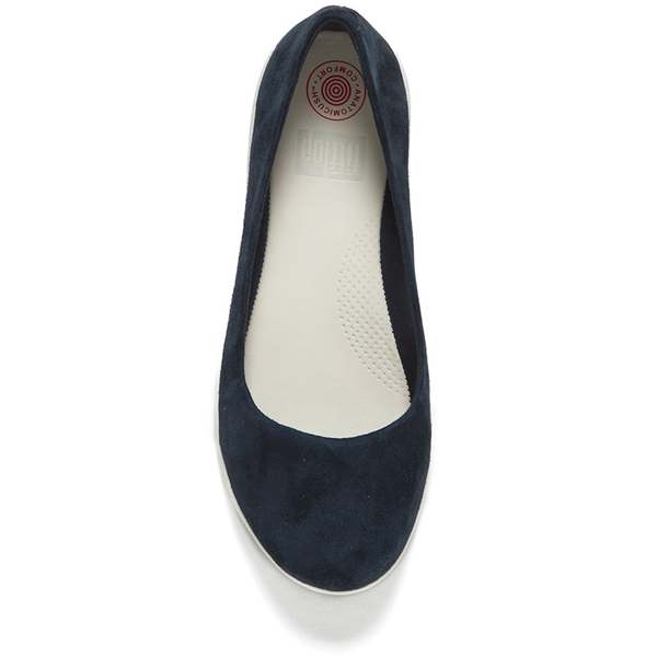 c903ab7c05ec4 FitFlop Women s F-Sporty Suede Ballerina Pumps - Supernavy Clothing ...