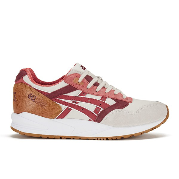 Asics Gel Saga Trainers - Off White/Red