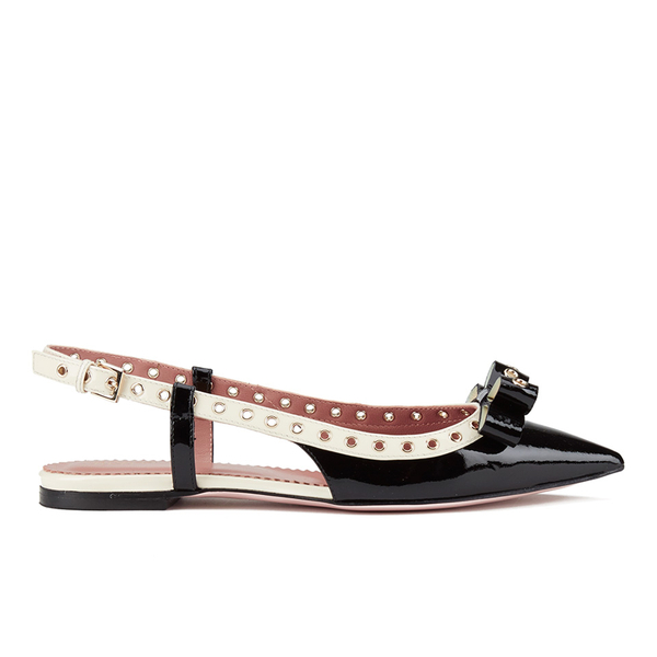 RED Valentino Woman Patent-leather Point-toe Flats Size 36 4Cd7kFL