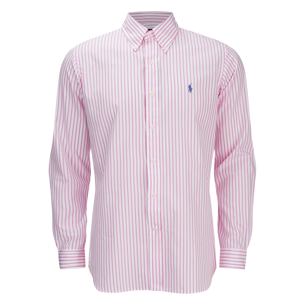Polo Ralph Lauren Men 39 S Striped Dress Shirt Pink White