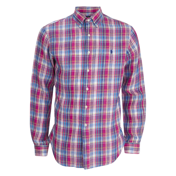 Polo Ralph Lauren Men's Checked Long Sleeve Shirt - Fuchsia