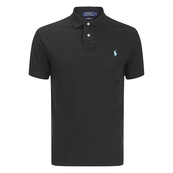 Polo Ralph Lauren Men's Short Sleeve Slim Fit Polo Shirt - Black