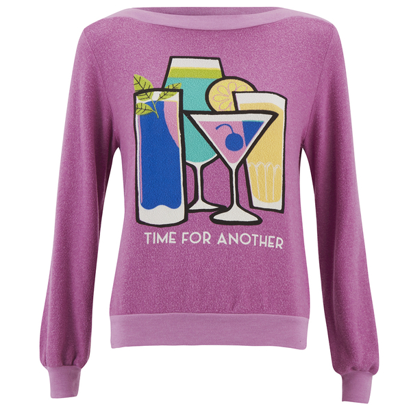 Wildfox Women's Brunch Time For Another Sweatshirt - Lavender Dream
