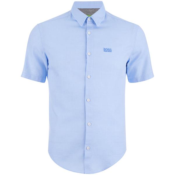 BOSS Green Men's C-Busterino Short Sleeve Shirt - Sky