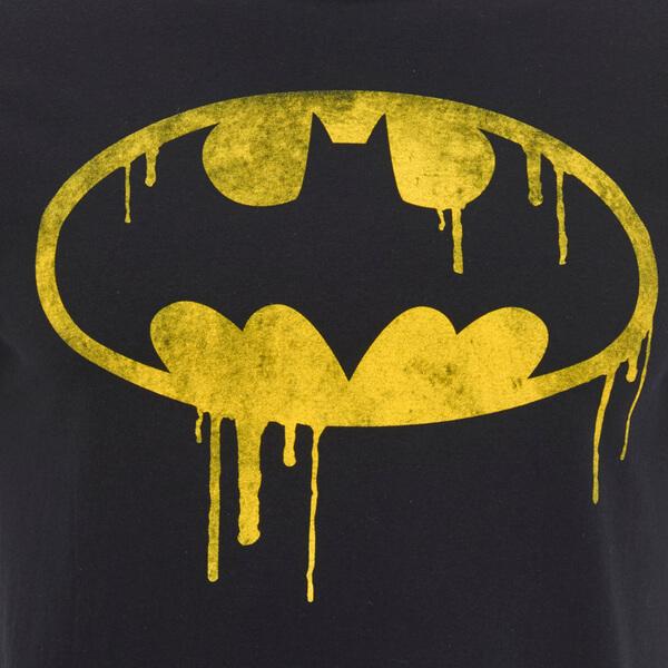 Dc Comics Men S Batman Dripping Logo T Shirt Black
