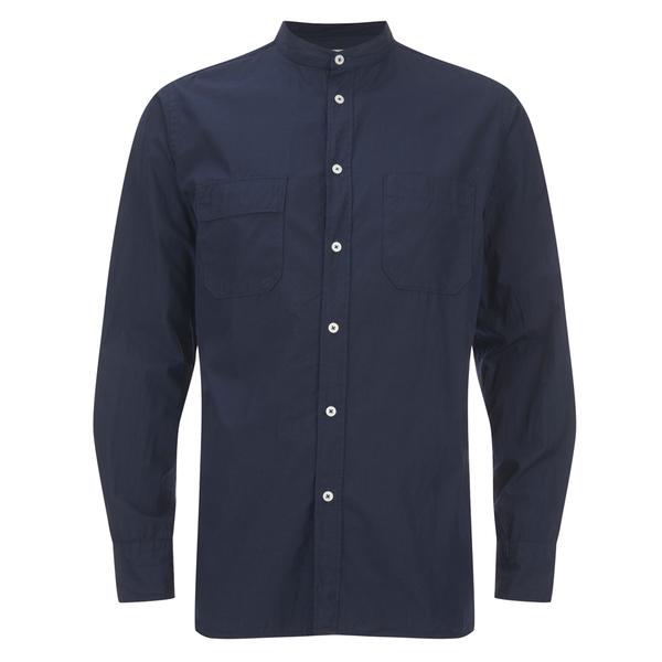 Universal Works Men's Poplin Stoke Shirt - Navy