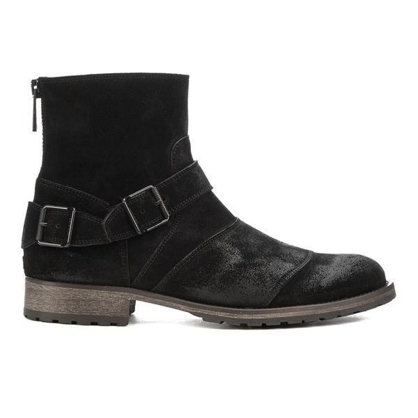 2539986e9c47 Belstaff Men s Trialmaster Leather Short Boots - Black  Image 1