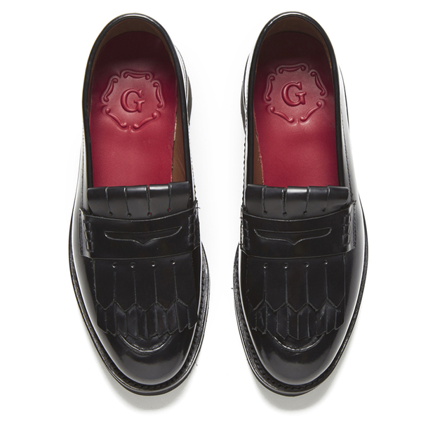 d9242a607aa Grenson Women s Juno Leather Frill Loafers - Black Rub Off  Image 2