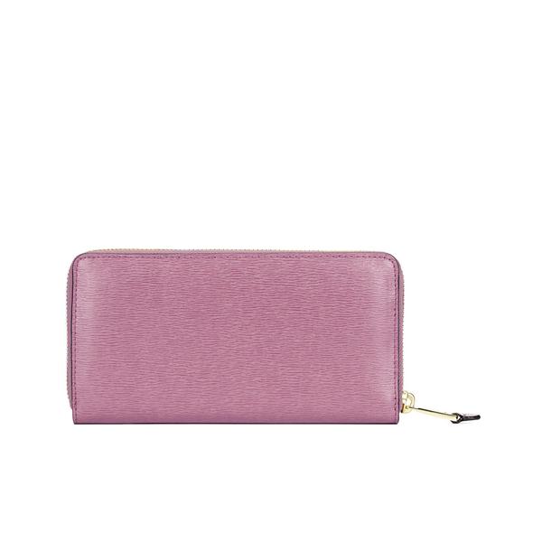 Lauren Ralph Lauren Women\u0027s Tate Leather Zip Wallet - Deco Rose/Cocoa:  Image 2