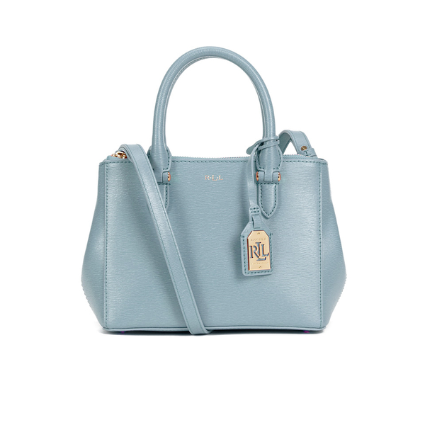 2426d570ce55 Lauren Ralph Lauren Women s Newbury Mini Double Zip Satchel - Cameo Blue   Image 1