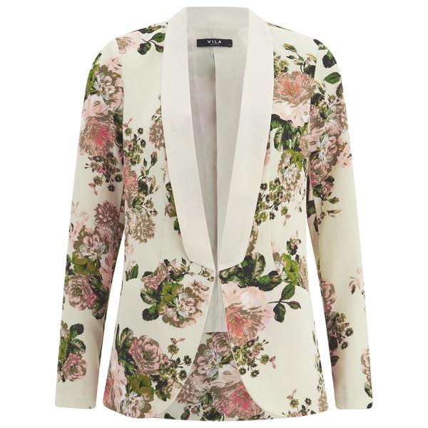 VILA Women's Flourish Spring Blazer - Pristine