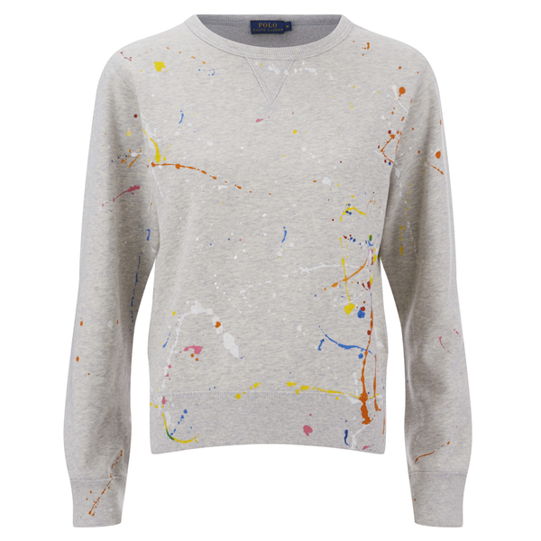 Polo Ralph Lauren Women's Paint Splatter Sweatshirt - Grey