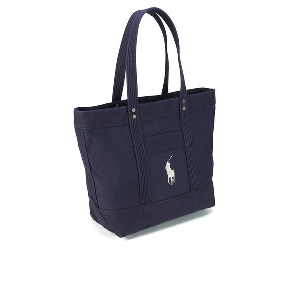 Polo Ralph Lauren Women\u0027s Canvas Tote Bag - Navy: Image 2