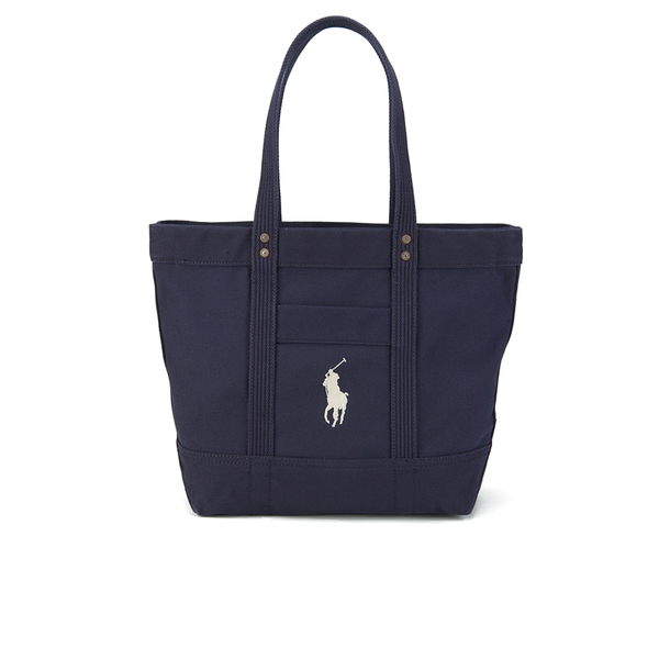 Polo Ralph Lauren Women s Canvas Tote Bag - Navy - Free UK Delivery over £50 8c2635e172
