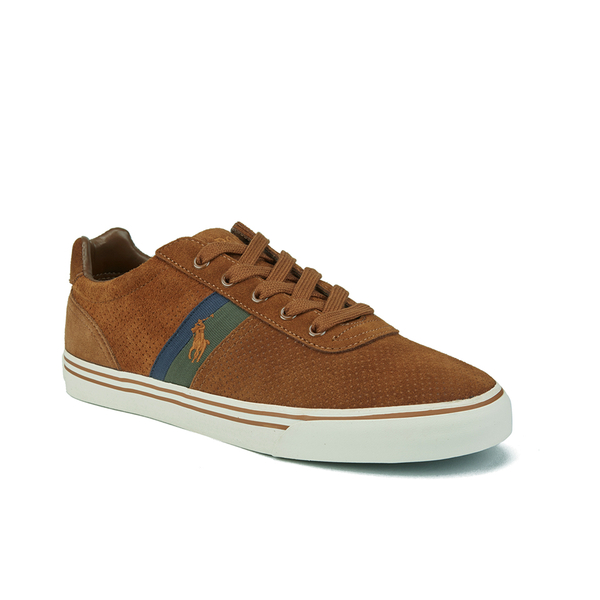 67a3fcfa1d9 Polo Ralph Lauren Men s Hanford II Perforated Suede Trainers - New Snuff   Image 4