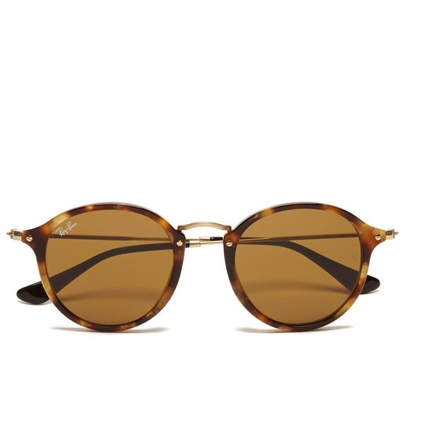 ade2df7081 Ray-Ban Round Fleck Spotted Sunglasses - Black Havana Womens ...