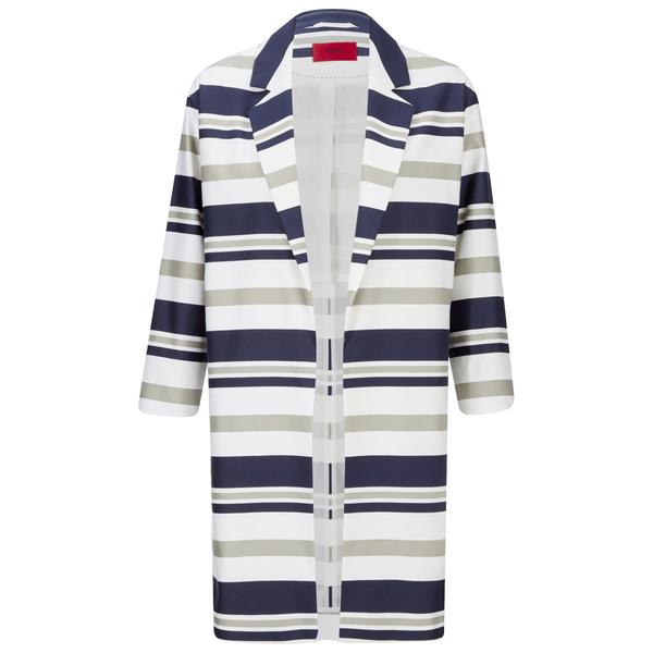 HUGO Women's Micola Striped Coat - Multi