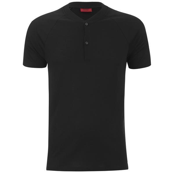 HUGO Men's Dolorado Baseball Collar Polo Shirt - Black