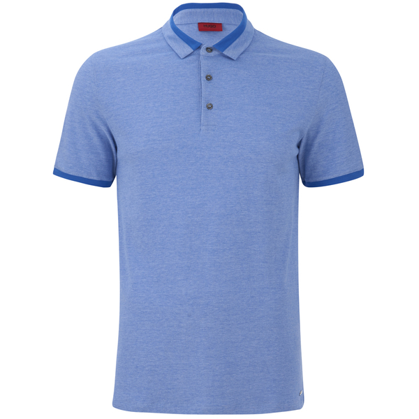 HUGO Men's Denno Collar Detail Polo Shirt - Electric Blue