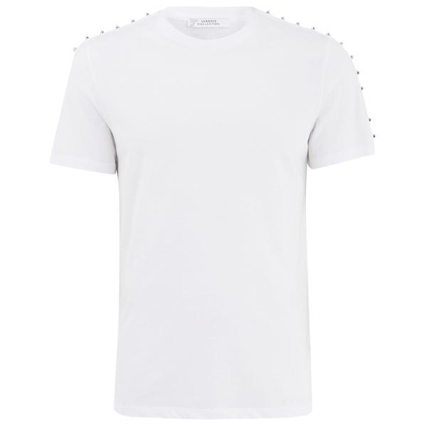 Versace Collection Men's Round Neck T-Shirt - White