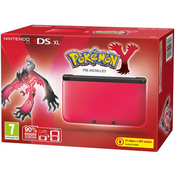 Nintendo 3ds xl red black pok mon y pack nintendo for Housse 3ds xl pokemon