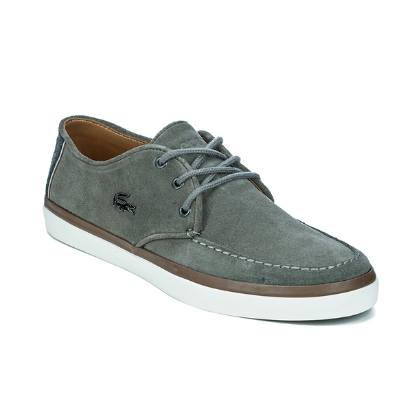 88f916d74a984f Lacoste Men s Sevrin 2 LCR Suede Deck Shoes - Grey  Image 4