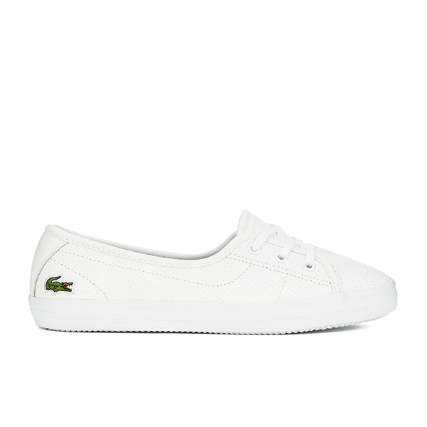 c4eb824f763a Lacoste Women s Ziane Chunky 116 2 Leather Lace Pumps - White  Image 1