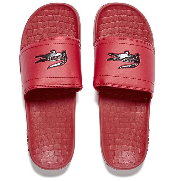 e5661c81d32 Lacoste Men s Frasier Slide Sandals - Red Black Mens Footwear ...