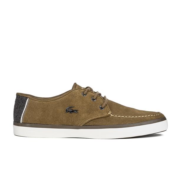 Lacoste Men's Sevrin 2 LCR Suede Deck Shoes - Tan: Image 1