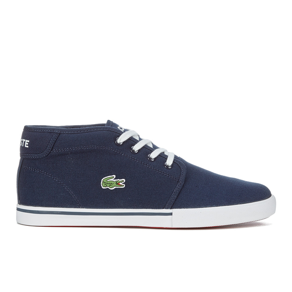 Lacoste Men's Ampthill LCR 2 Canvas Chukka Trainers - Blue: Image 1