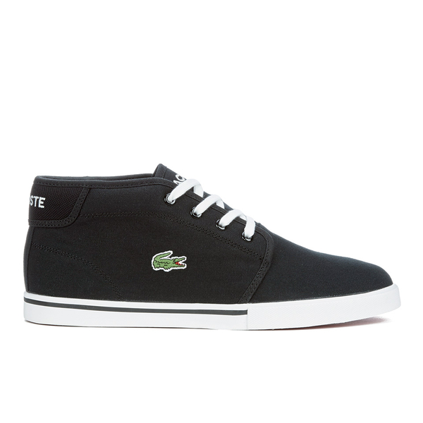 Lacoste Men\u0027s Ampthill LCR 2 Canvas Chukka Trainers - Black: Image 1