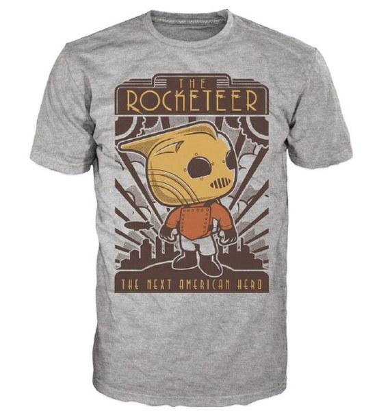 T-Shirt Disney The Rocketeer Pop!- Gris