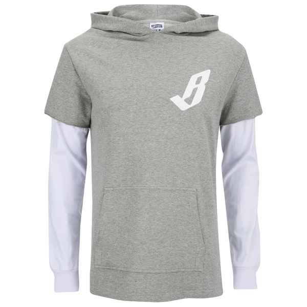 Billionaire Boys Club Men's Big Arch Hoody with Contrast Sleeves - Heather Grey