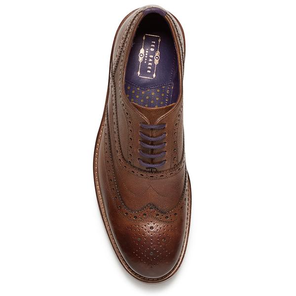 0d24aac67 Ted Baker Men s Guri 8 Leather Brogues - Tan  Image 3
