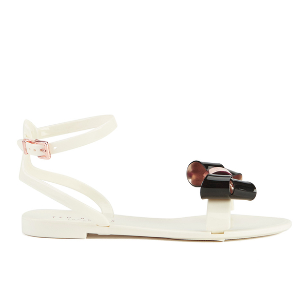 81f50f115 Ted Baker Women s Louwla Jelly Bow Ankle-Strap Sandals - Cream Black  Image