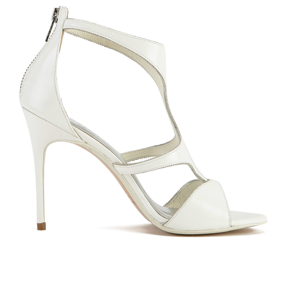 611cecb233a Ted Baker Women s Shyea Leather Strappy Heeled Sandals - Cream  Image 1